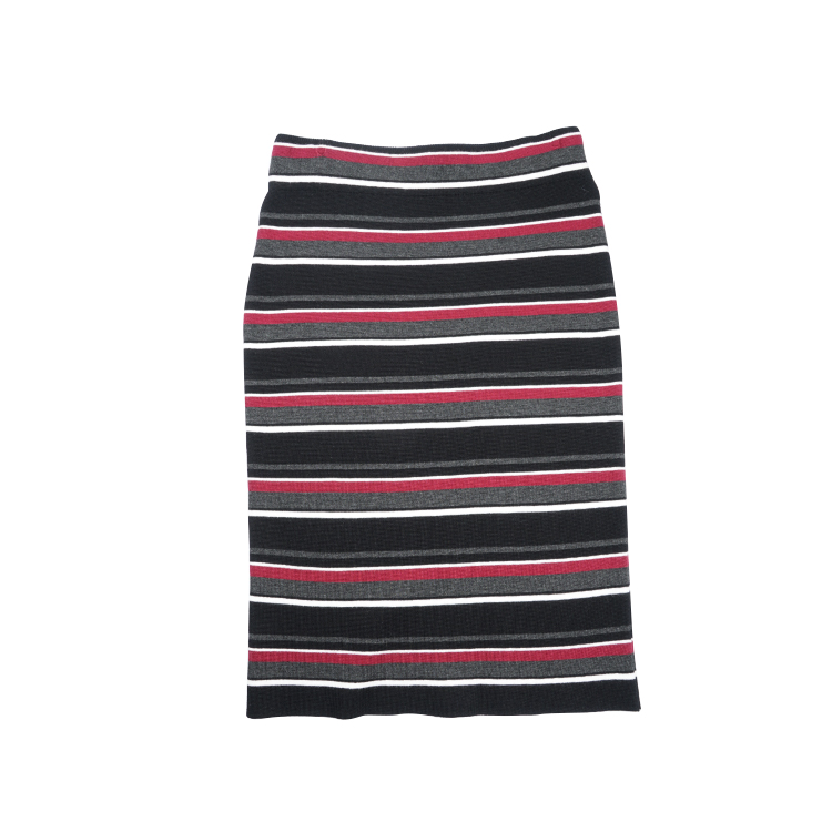 Ladies Fashion Beautiful Knitted Stripe Skirts Women's Dresses And Skirts With High Quality