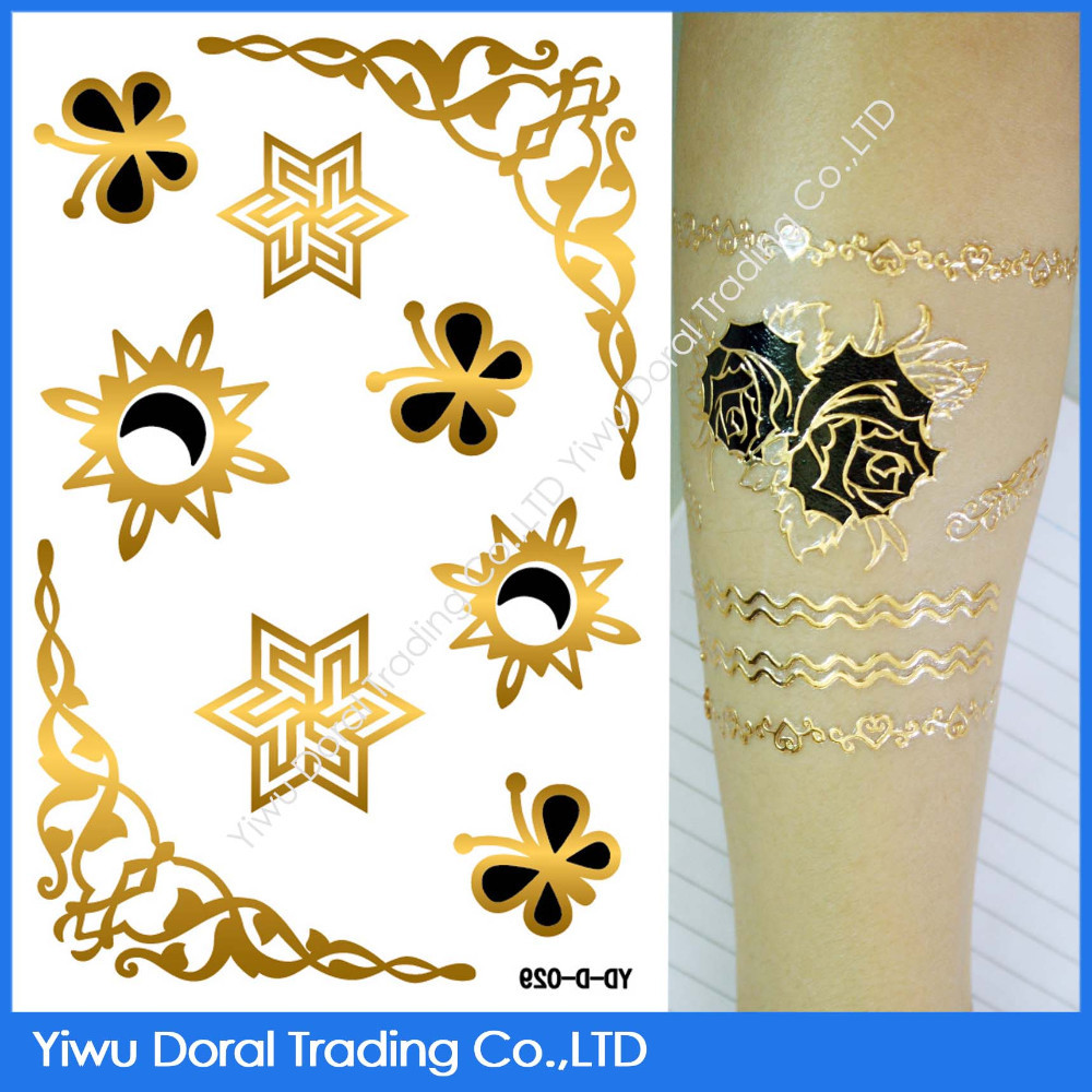 Special tattoo design 3D crown arm tattoo water transfer metallic temporary tattoo sticker