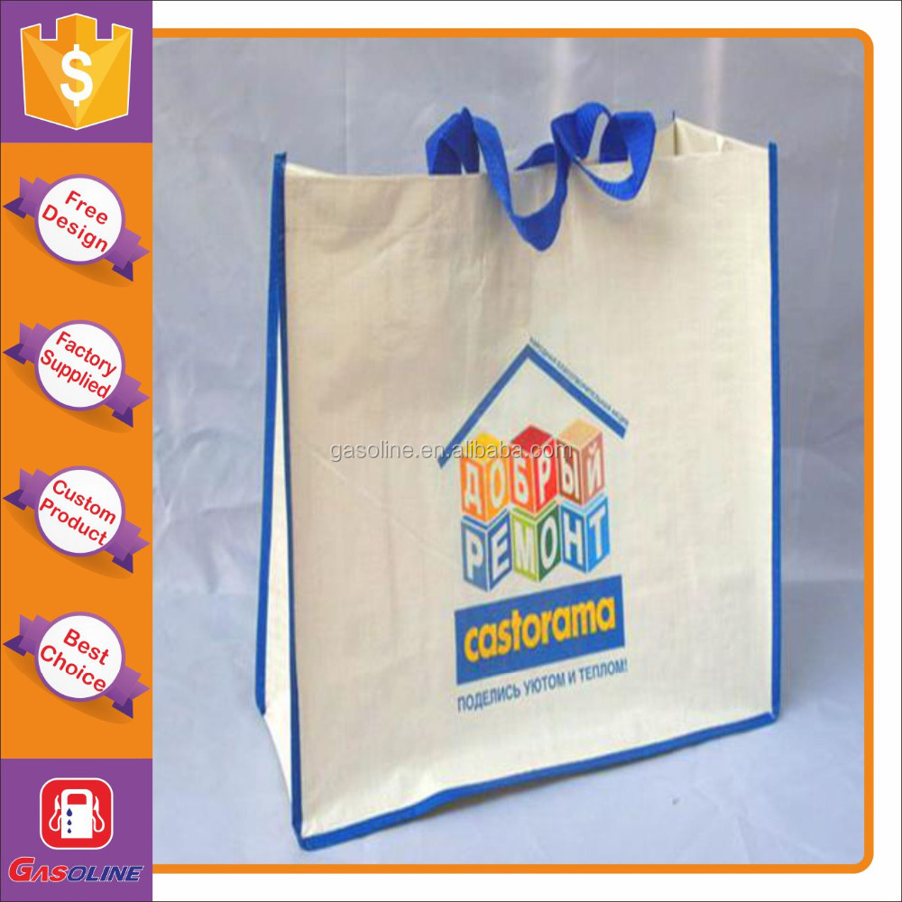 Fashional hot sale laminated printed shopping bag