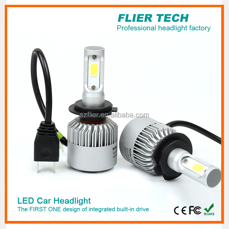 China factory headlight led bulb with Japan fan h4 car lights for 12V 24V cars