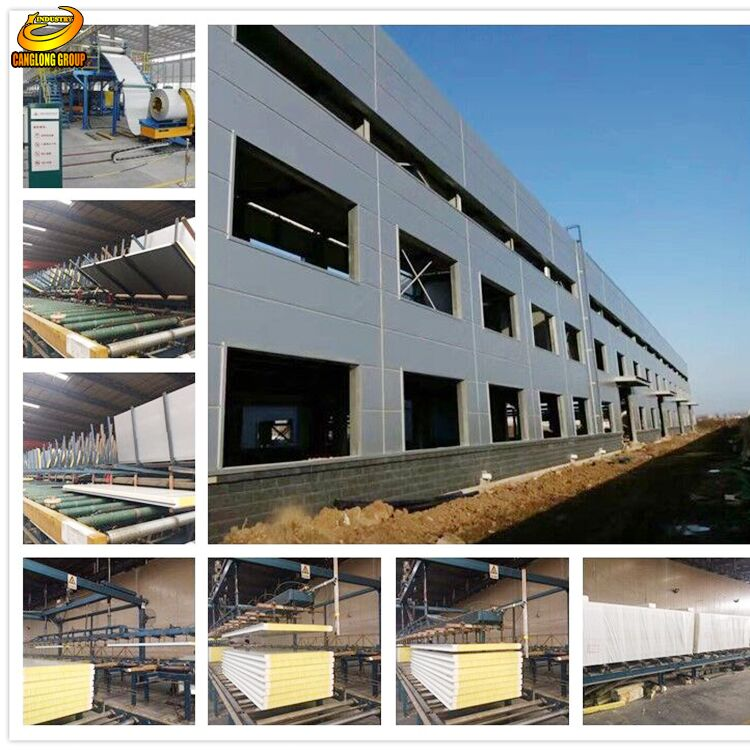 Corrugated light garage prefabricated steel structure warehouse for construction