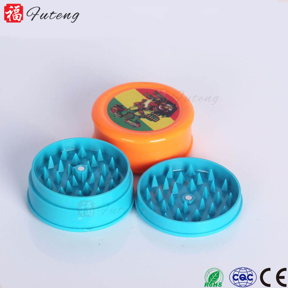 Custom 60mm Chinese Acrylic Herb Grinder 3 parts Spice Crusher Wholesale