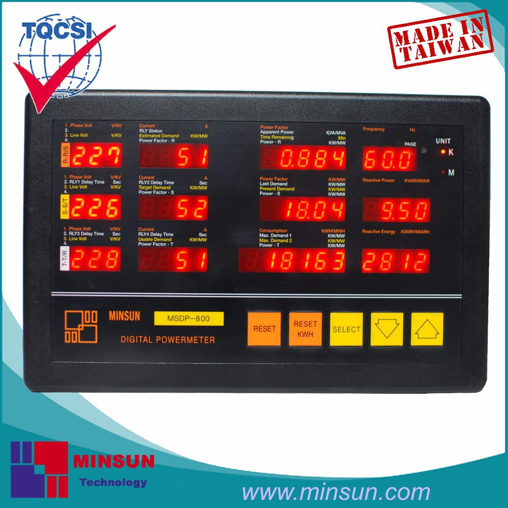 MSDP-800 Multi-Function Intelligent Power Meter with 4 Steps Demand Control
