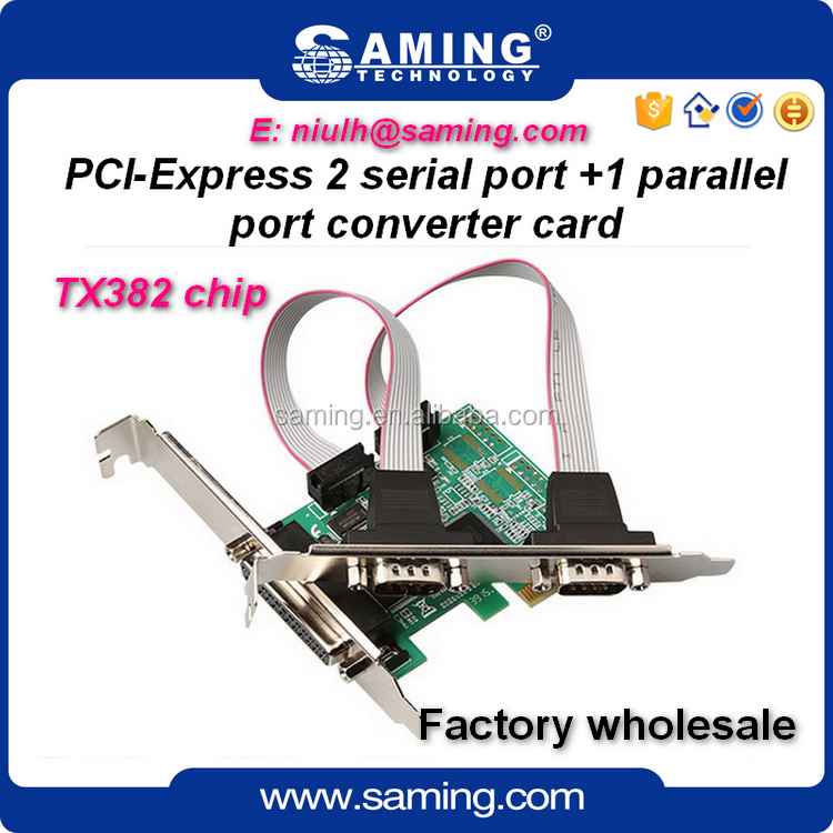 Hot sale pcie to 2 serial + 1 parallel riser card/ controller card/ converter card