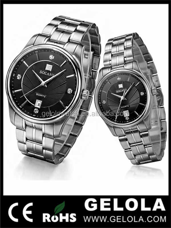 Fashionable and Trendy Couple Watches from China Supplier in Alibaba 100% Discount Watch