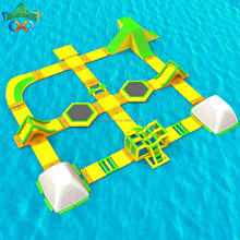 Most popular inflatable water playground floating with obstacle courses iceberge for teenagers adults for fun