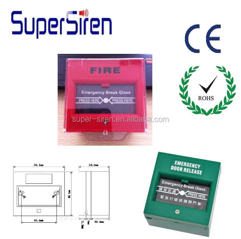 emergency fire used manual call point fire alarm break replacement glass