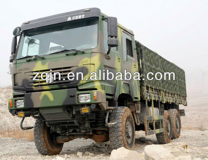 SINOTRUK Price Military 6x6 Trucks for Sale Cargoes Truck with Canopy