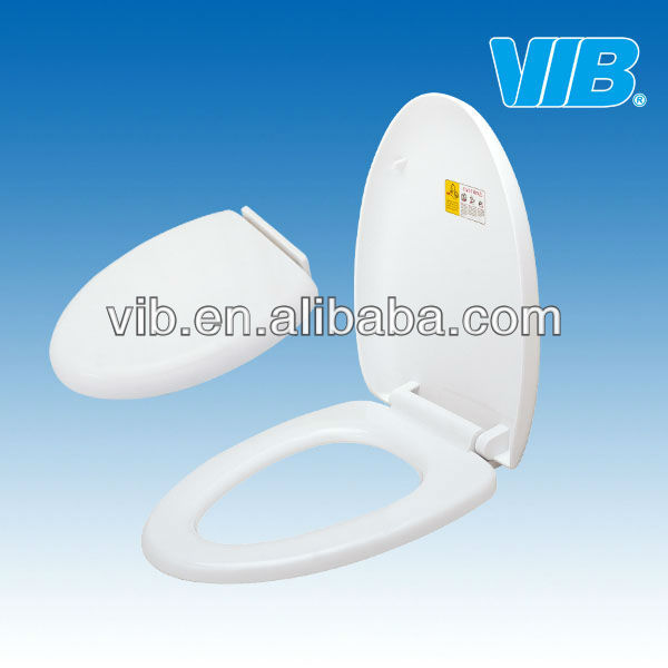 Washroom toilet seat with slow close toilet seat hinges