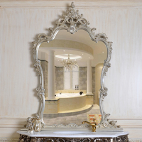 PU246 Silver Leaf Color Decorative Wall Mirror for Console Table