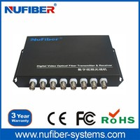 Hot sale 8-Channel RS485 Video Transmitter/Receiver fiber optic vedio converter