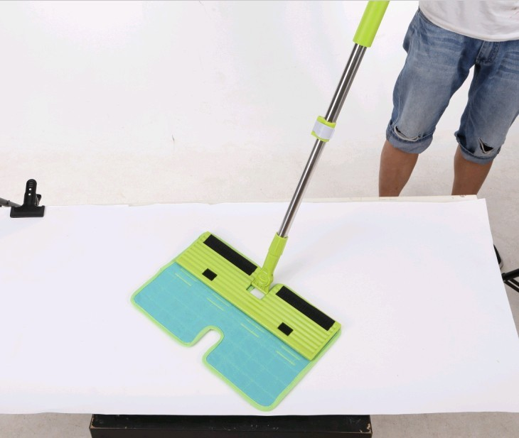 2015 new style cleaning mop with velcro mop refill