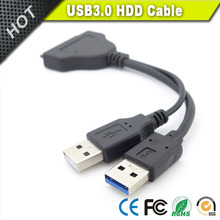 Black 22pin 15 pin sata 7 usb 2.0 convert cable for 2.5inch HDD