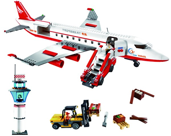 ABS 856 pcs educational DIY airport building blocks toy