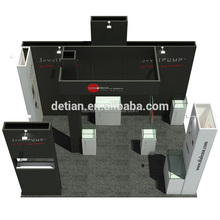 Detian Offer 4x6m exhibition booth design with designer supplier contractor
