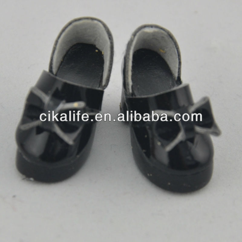 16 inch black safety pu fit gotz patterns doll shoes