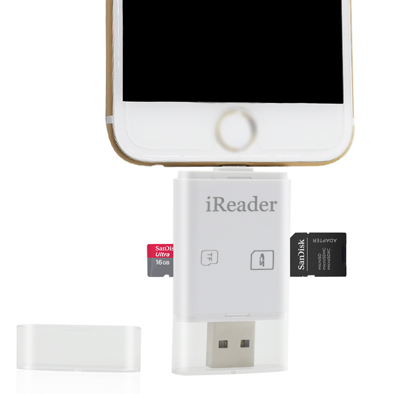 Wholesale competitive quality products chip card reader writer usb stick memory flash drive for iphone/ ipad/ iPod
