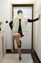 2017 New Fashion White Mink Fur Coat/Good Price/Scheduled Style