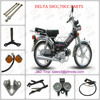 wholesale motorcycle parts moped viper DELTA 50cc/70cc