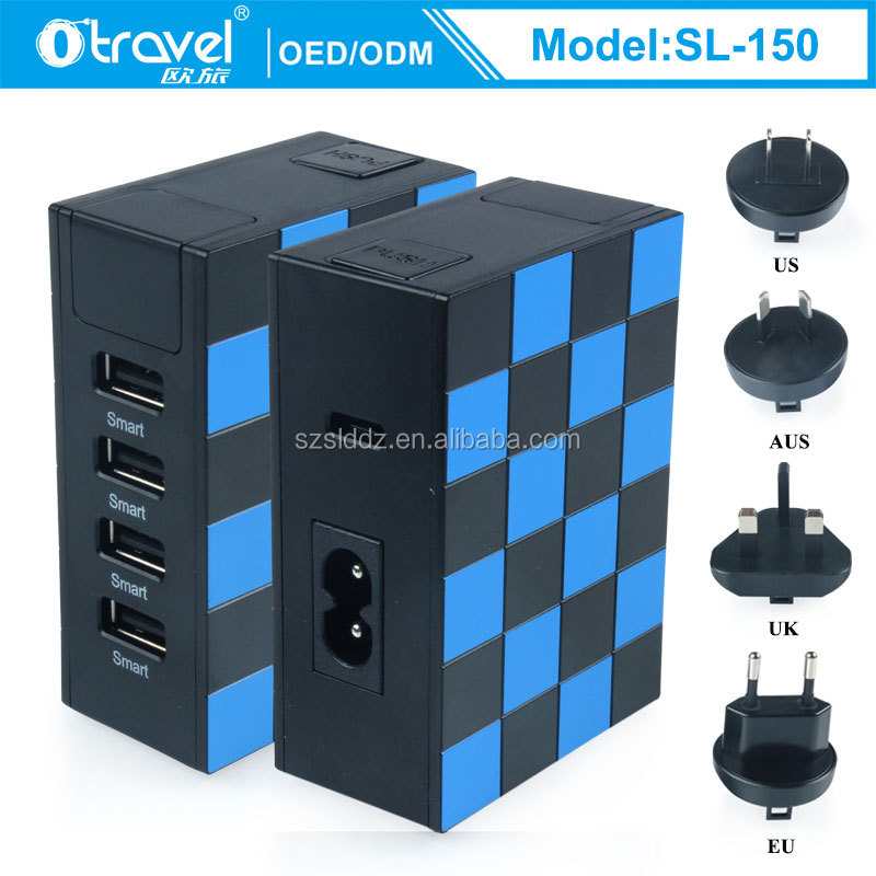 2017 Guangdong Universal AC Power Battery Charging Station for Business Trip SL-150 Otravel international travel adapter usb hub