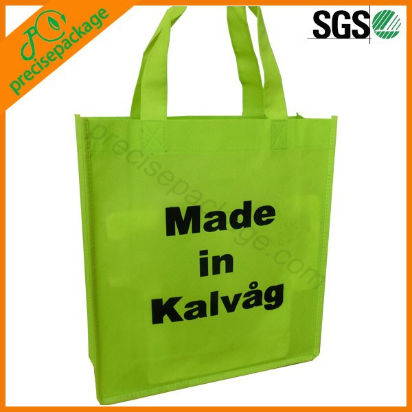 Promotional Cheap Green Non Woven Shopping Bags (PRA-16038)
