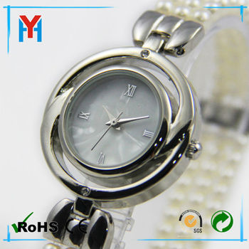 Watches lady classic pearl wrist watch