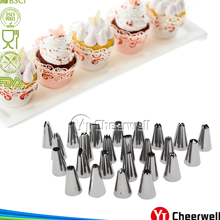 Russian Piping Tips,54pcs,Stainless Steel Cake Decorating pipping nozzles Tips Set