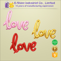 Advertising giant love foil balloons with wedding decorations, balloons in Valentine's Day