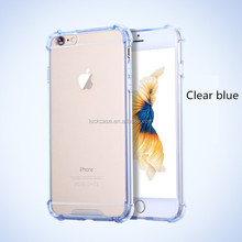 New style Creative shock -proof ultra thin clear TPU cases for iphone 5 SE/6s, new transparent PC back TPU egde cover