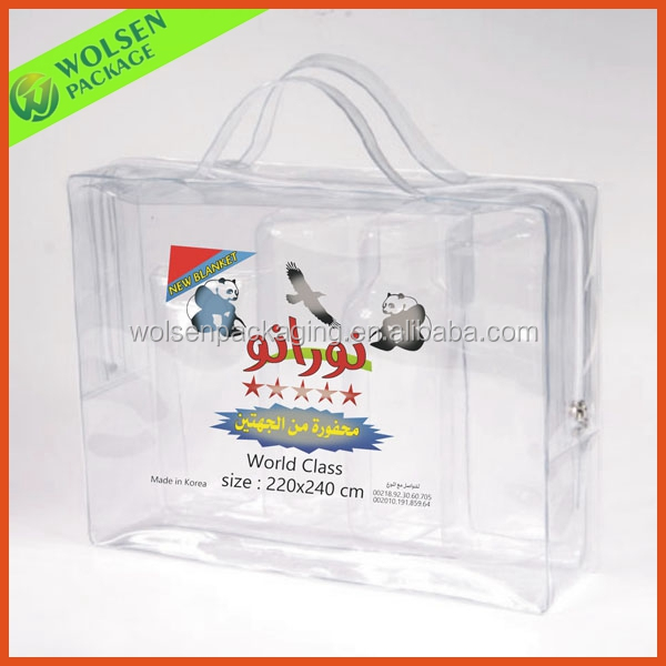 2014 New Transparent PVC bag, PVC bags for bed sheets, PVC quilt bag