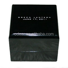 custom glossy wooden jewelry boxes packaging black box