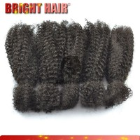 2015 new products human and synthetic blend hair afro kinky bulk 14""