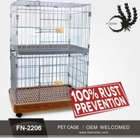 Wholesale wire mesh cheap stainless steel dog cage pet cages manufacturers