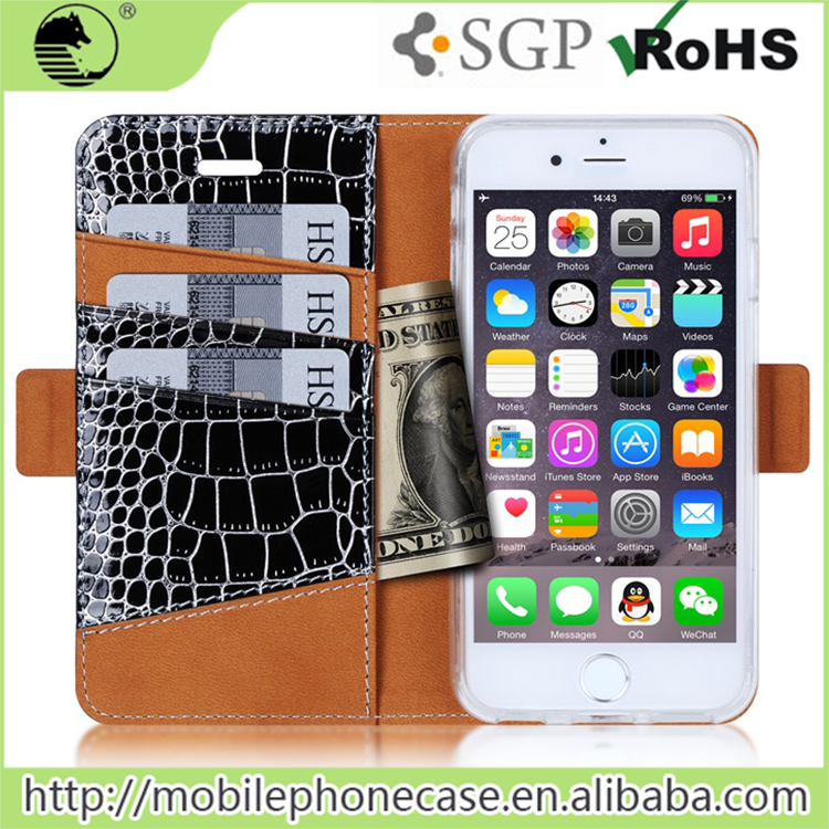Luxury PU Leather Wallet Design mobile phone case cover For iphone SE