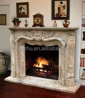 Indoor Natural Stone Fireplace Frame,antique stone fireplace