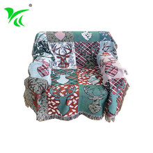 Wholesale christmas Polyester tapestry bed throw woven blankets