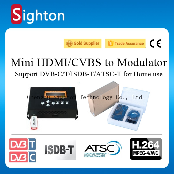 digital tv broadcasting equipment hd / av modulator for home version