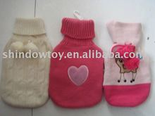 plush hot- water bottle/plush animals hot water bottle cover