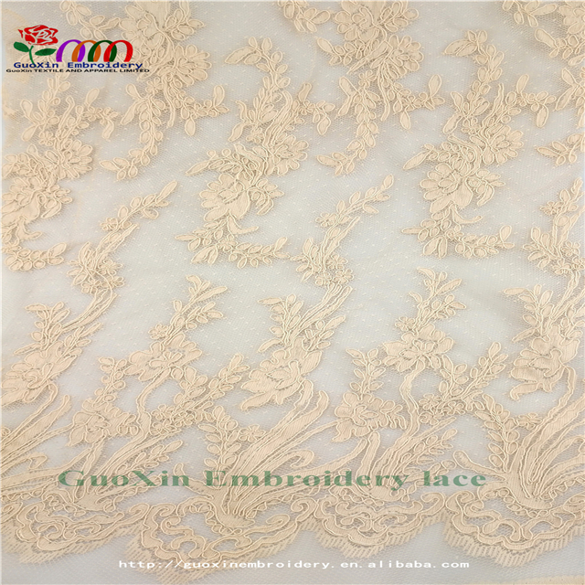 2017 nice africa lace fabrics with cordings embroidery lace fabric for garments