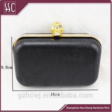 Fasion clutch frames with skull head & square box clutch frame