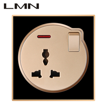 Electrical 13A wall switch socket,multifunctional socket and small switch