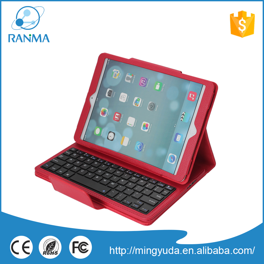 Universal keyboard leather case for ipad air,smart tablet flip cover with stand