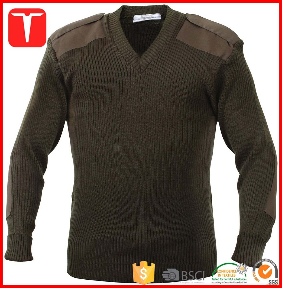 Mens army pullover military sweater