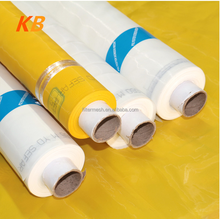 White and Yellow Polyester Screen Printing Mesh Use on the Stretcher Machine