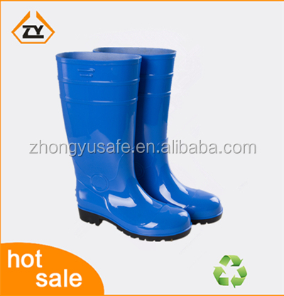 PVC Safety Boots/Galoshes Overshoes/Blue Rain Boots