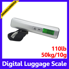 Newest 50kg mini digital luggage weighing scale Hand Held Travel Digital Scale