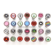 Piercing Jewelry Crystal Jeweled Logo Barbell Tongue Ring