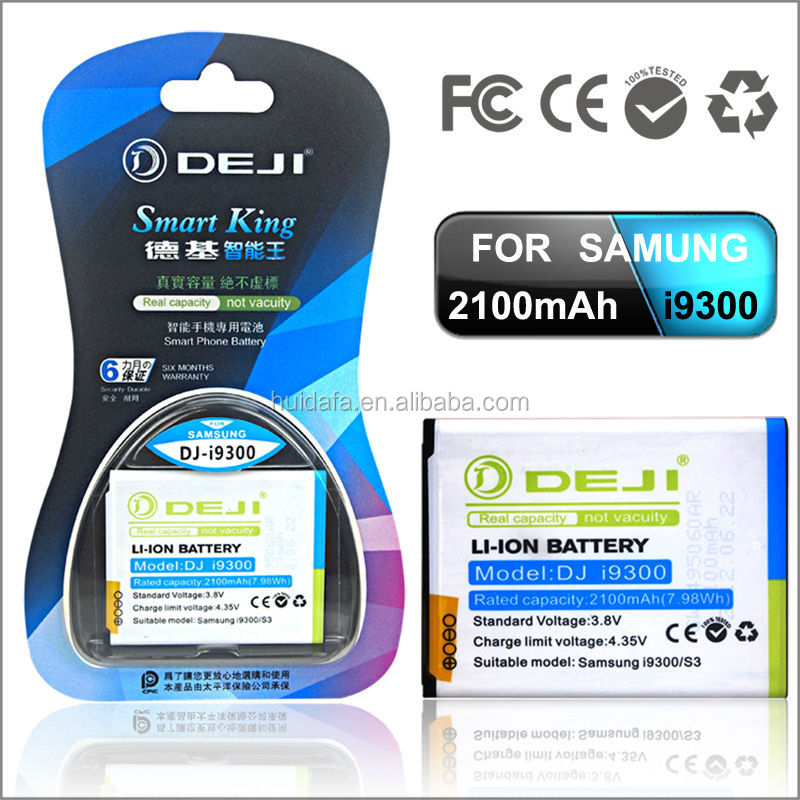 1year warranty 3.7v li ion battery gb t18287 for samsung galaxy s3 i9300