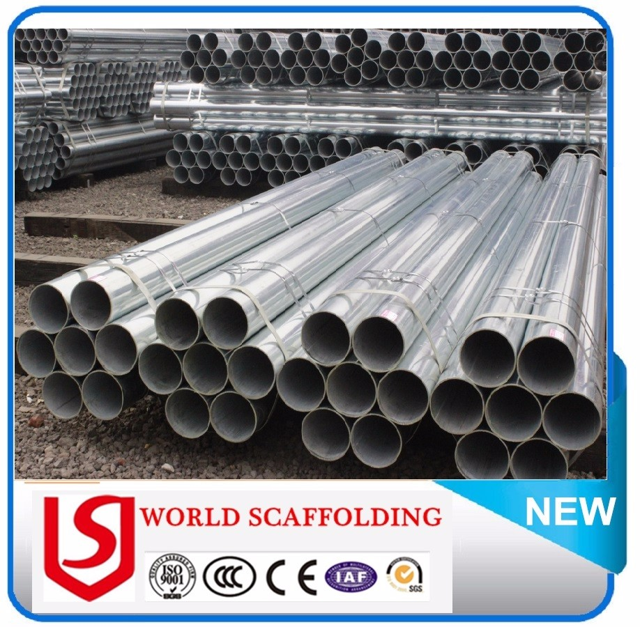 High quality 48mm galvanized steel scaffolding pipe and welded steel pipe with reasonable schedule 80 steel pipe price
