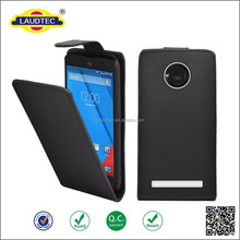 2015 Newly and Hot Selling Smooth PU Slim Flip Case for Micromax Yuphoria Cellphone